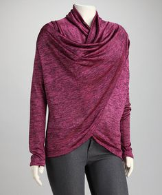 Take a look at this Magenta Jaipur Plus-Size Wrap Top by CANARI on #zulily today!