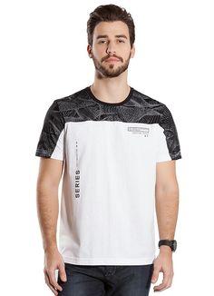 Camiseta Estampada Decote Redondo (Branco) Bgo