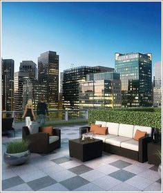 One Hawthorne Condominiums modern patio