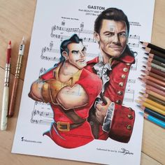 Gaston [feat. Gaston & Luke Evans as Gaston] (Music / Cartoon Vs. Live Action by DoughtyCreARTive @Instagram) #BeautyAndTheBeast