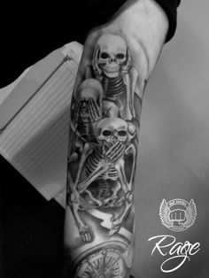 See no evil Tattoo #Tattoos #tattoo #Almere #Gohardtattoo #Blackandgrey