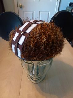 Star Wars Mickey Mouse ears made by Etsy seller And The Thread Goes On: Chewbacca