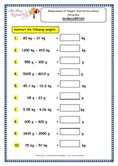 Grade 3 Maths Worksheets: Measurement of Weight: Subtraction without Conversion). Practicing worksheets helps kids improving their maths skills Measurement Worksheets, 3rd Grade Math Worksheets, Sequencing Worksheets, Hindi Worksheets, Printable Math Worksheets, Science Worksheets, School Worksheets, 2nd Grade Math, Grade 2