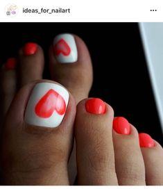 Modny Pedicure: 25 Ciekawych Inspiracji na Paznokcie u Stóp Pretty Toe Nails, Cute Toe Nails, Fancy Nails, My Nails, Toe Nails Red, Red Nail, Toe Nail Color, Toe Nail Art, Nail Colors