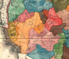 #MBWA John Wesley Powell's Watershed States Map Map: What If Our Western States Were Shaped by Watersheds?