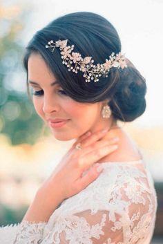 wedding updos hairstyles via kristin la voie photography