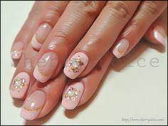 nail art /bijou /Coral pink