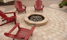 Stone Paver Patio with Firepit.