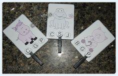 Ideia Criativa - Gi Barbosa Educação Infantil: Atividade AEE Animais Letra Inicial com Cards e Pr...
