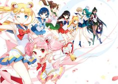 sailor moon, usagi tsukino, sailor chibi moon, chibi usa, sailor mercury, ai muzino, sailor jupiter, makoto kino, sailor mars, rei hino, sailor venus, minko aino. sailor uranus, haruka tenoh, sailor neptune, michiru kaioh, sailor pluto setsuna meioh, sailor saturn, hotaru tomoe