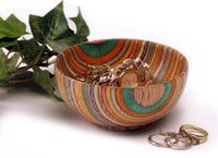 This beautifully crafted, colorful bowl will be a welcome addition to your home.