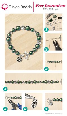 Celebrate St. Patrick's Day in style with this fun DIY Dublin Hills bracelet design from FusionBeads.com