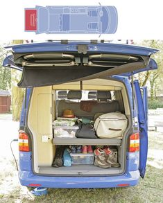 Cómo organizamos la furgoneta en verano: orden en el maletero. California Volkswagen