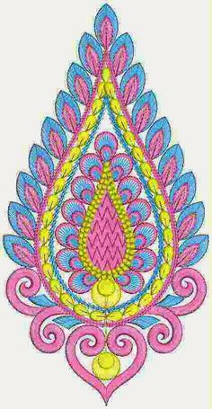 Custom Different Patch Styles For Dresses Designs - Embdesigntube Embroidery Works, Applique Embroidery Designs, Hand Embroidery Designs, Embroidery Stitches, Machine Embroidery, Colorful Rangoli Designs, Cross Stitch Rose, Patch Design, Art Drawings Sketches Simple
