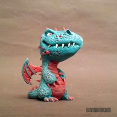 Dragon #46 - ORIGINAL Sculpture - polymer CLAY - 3D version by Buzhandmade on Etsy