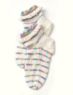 Yarnspirations.com - Patons Child's Pretty Ruffles Socks - Patterns  | Yarnspirations. FREE DOWNLOAD PATTERN.
