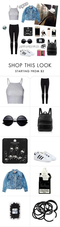 Sem título #62 by marylobo99 on Polyvore featuring Glamorous, Levi's, Miss Selfridge, adidas, Elizabeth and James, Royce Leather, Topshop and H&M