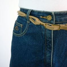 1980s Jordache Jean Skirt