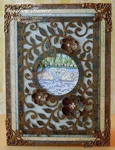 Card: Framed Swans {Heartfelt Creations}
