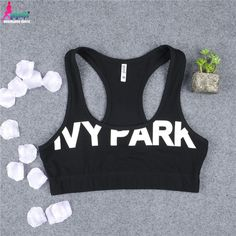 Gagaopt 2016 Womens Sexy Crop Tops Beyonce IVY-Park Letters Printed Sport Bra Tops Feamle T0697