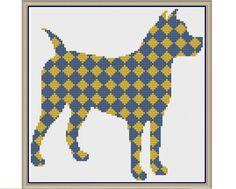 Diamond Dog in Denim and Dandelion Counted Cross Stitch by HornswoggleStore, $5.00 (Nursery, Kids, Children, Animal, Baby)