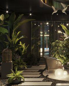Portfolio: Designer country-house in Penza Spa Interior Design, Spa Design, Interior Garden, Luxury Interior, Exterior Design, Interior Architecture, Luxury Spa, Luxury Home Decor, Massage Room Decor
