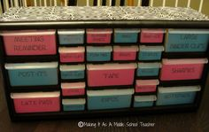 Toolbox organizer - great for teachers