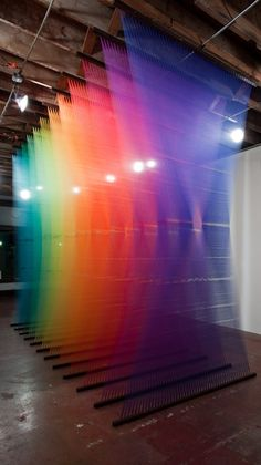 Gabriel Dawe's Thread Rainbows