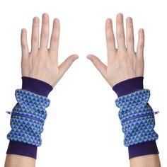 Wrist Zips - Wrist Wallet - Vintage Triangles