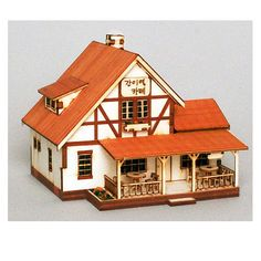 Wooden Model Station Kits Korea Series- Scale models Temporary Station Cafe