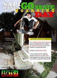 Eventos Go skate day Sapiranga -  Evento na cidade de Sapiranga Rio Grande do Sul, localizada na região metropolitana de Porto Alegre terá o dia do skate comemorado na próxima Sexta Feira dia 21 de Junho de 2013 e esta agendado para