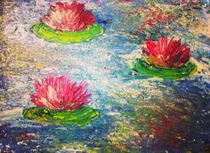 Water lilies on the pond