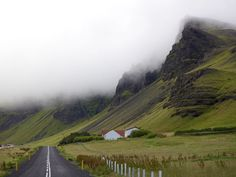 Quaint farmhouses line the Skálavegur Road as it passes through Ysti-Skáli, along Iceland's south coast. Despite sitting at the foot of Eyjafjallajökull, the community was relatively unaffected by last year's eruption.