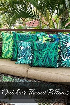 Outdoor Throw Pillows - Outdoor accent pillows Give your backyard , patio or porch life again by using some cool and unique outdoor throw pillows.  Bold and bright shades of green, red, blue, orange and yellow are crazy popular and currently trending.  It is easy to change the look of your outdoor seating area by simply changing your pillows.  It does not matter if your home is Tuscan, cabin or shabby-chic, you will find the best decorative outdoor throw pillows.
