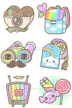 Icons made for Rainbowholic by Little Miss Paint Brush ... So cute!