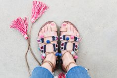 Outfit Ideas, Style Inspiration, Spring Fashion, Embellished Sandals, Summer Sandals