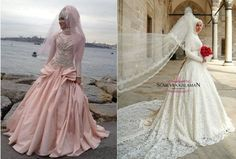 Starting to like this Hijabi wedding gowns :)