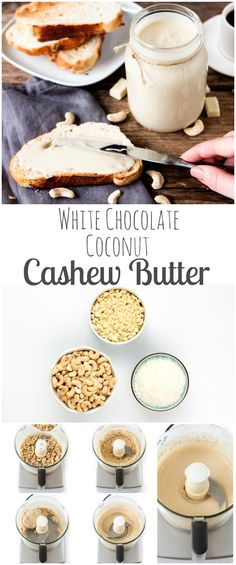 White chocolate coconut cashew butter. Simple, creamy, and delicous!