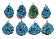 24 kt Gold Plated Druzy Pendants  1 piece of fine by finegemstone, $11.00