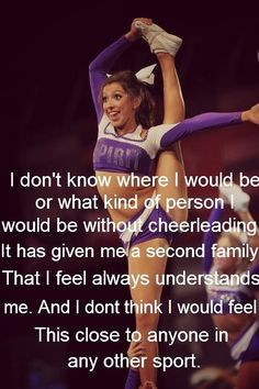 I never knew how important cheer would mean, I used to think it was just a sport , but now its a life style. Cheer Coaches, Cheer Stunts, Cheer Dance, Cheerleading Quotes, Gymnastics Quotes, All Star Cheer, Cheer Mom, Cheer Qoutes, Cheer Sayings
