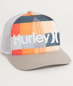Hurley Kingsroad Trucker Hat - Men's Hats in Hyper Orange Baseball Cap Outfit, Baseball Caps, Men's Hats, Dad Hats, Head Sock, Hurley Hats, Mens Trucker Hat, Cap Girl, Beanies