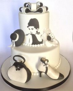 Black and white Glamour ~ All edible and hand painted