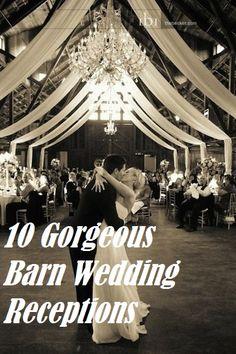 10 Gorgeous Barn Wedding Receptions | Rustic Folk Weddings