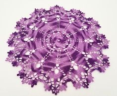 Handmade crochet doily, multi color purple, dark purple with light purple, inch large doily Shades Of Purple, Light Purple, Dark Purple, Crochet Doilies, Handmade, Etsy, Color, Hand Made, Colour