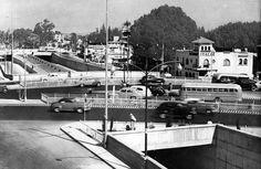 cruce de viaducto Miguel Aleman  1950s cd de Mexico