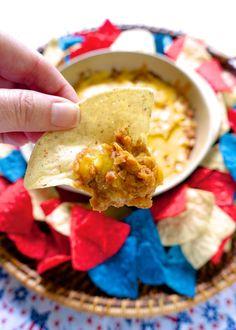 BBQ Bean Dip - beans, bbq sauce and cheddar cheese