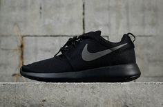 buy online 0403a abe08 Shop Nike Roshe One Triple Black Noir 2018 Mens Running Shoes Sneakers  511881-096 Youth