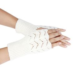 Winter Warm Brief Paragraph Knitting Half Fingerless Gloves Women