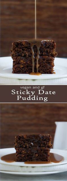 Sticky Date Pudding - Vegan & GF ( Note: increase dates and leave out brown sugar)