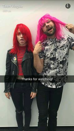 Hayley Williams and Brian J O'Connor talking about goodDYEyoung on the Teen Vogue Snapchat